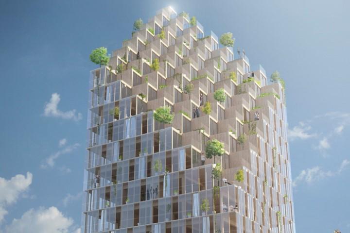 Constructii din lemn de pana la 18 etaje in America de Nord