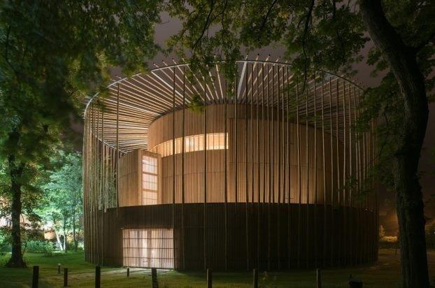 Teatrul Hardelot din Franta - cea mai buna capodopera arhitecturala din lemn